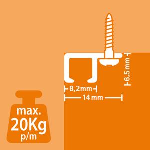 Guía de aluminio para techo