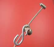 Colgador estándar nylon 2m /cable inoxidable 1.5m+ gancho